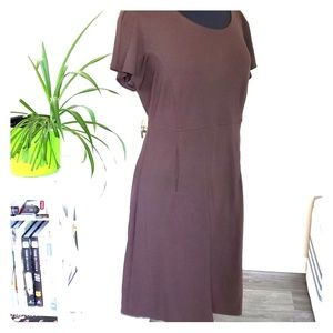 Studio M midi dress chocolate brown L